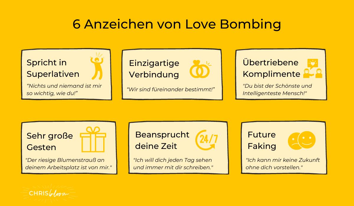 Love Bombing Anzeichen